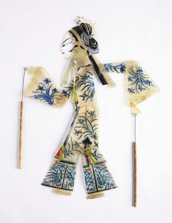 En Hai Lu skugga marionett från Han folken i Kina. 20-talet. I samlingen av Barnens Museum of Indianapolis.