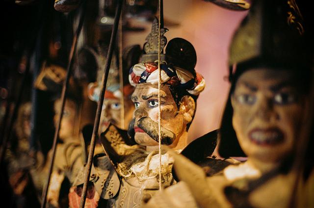 Marionetter på Museo Internazionale delle Marionette