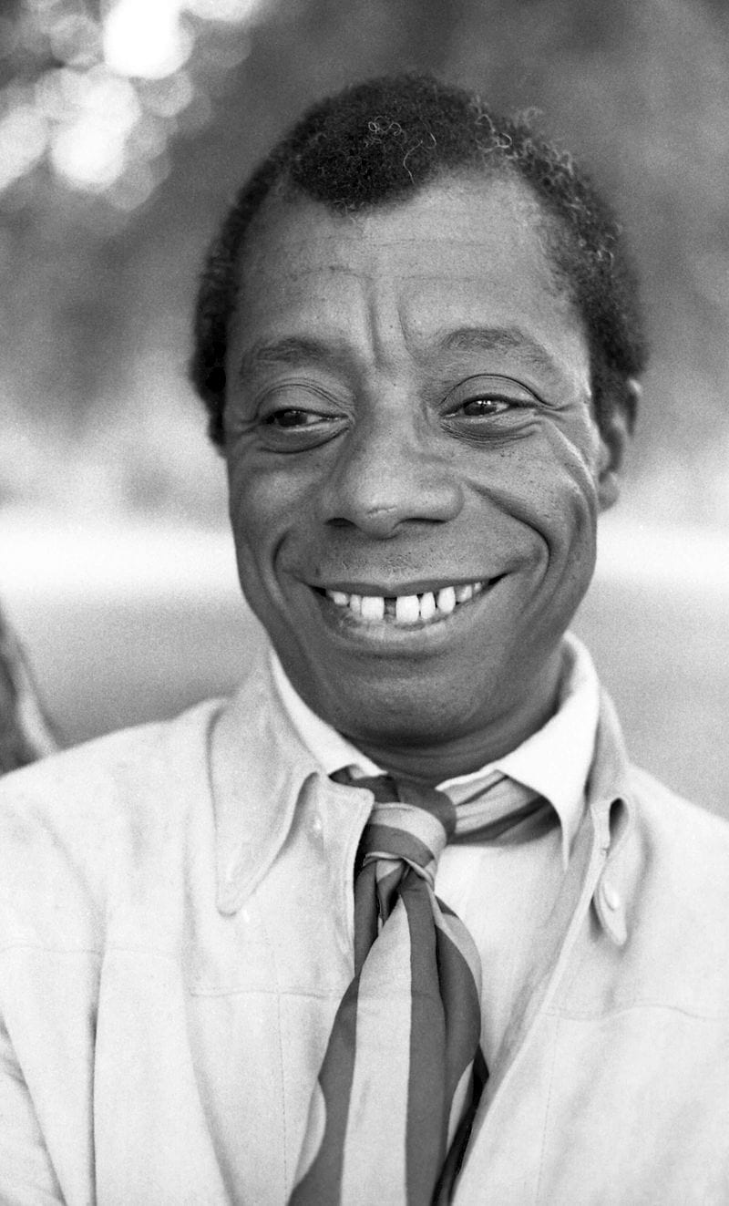 James Baldwin in Hyde Park, London. Photo by Allan Warren/CC.
